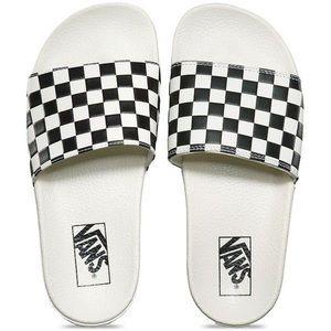 Vans Checkerboard Check Slip On Slides Sandals